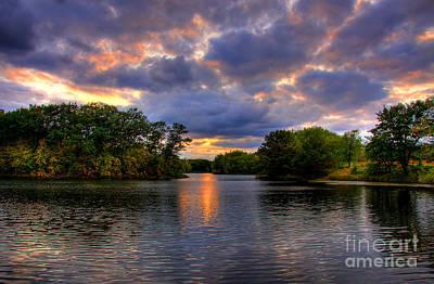 Thomas Lake Park In Eagan On A Glorious Summer Evening Print by Wayne Moran