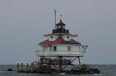 Thomas Point Shoal Lighthouse Print by Paul Sutherland