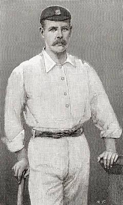 Cricket Drawing - Thomas Walter Hayward, 1871 by Vintage Design Pics