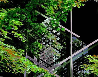 Eureka Springs Digital Art - Thorncrown Chapel Arkansas Ozarks Of Arkansas by Lizi Beard-Ward