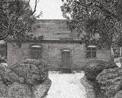 Drawing - Thoroughgood House Virginia Beach Va by Stephany Elsworth