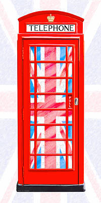 London Photograph - Thoroughly British Flair - Classic Phone Booth by Mark E Tisdale