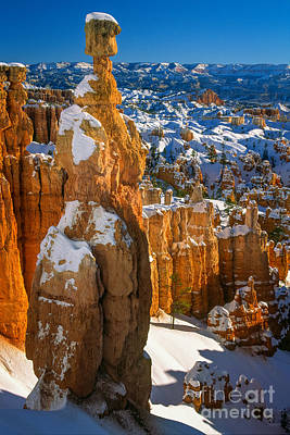 Bryce Canyon National Park Photograph - Thors Hammer In Winter by Inge Johnsson