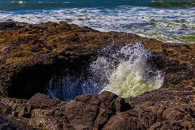 Costal Photograph - Thor's Well Coastal Oregon by Garry Gay