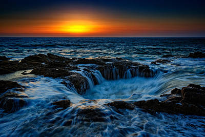 Thor Photograph - Thor's Well II by Rick Berk