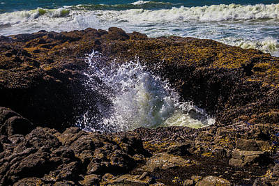 Costal Photograph - Thors Well Oregon by Garry Gay