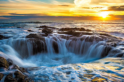 Thor's Well Print by Patrick Campbell