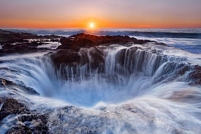 Holes Photograph - Thors' Well by Miles Morgan
