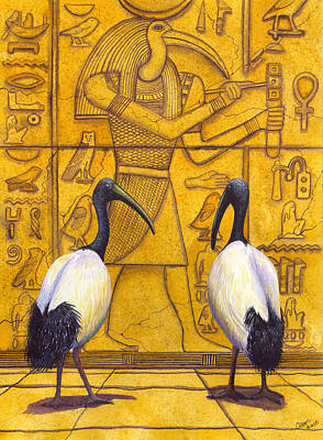 Hieroglyphs Painting - Thoth by Catherine G McElroy