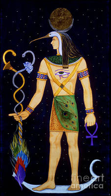 Papyrus Painting - Thoth-djeheuty by DiVeena Seshetta