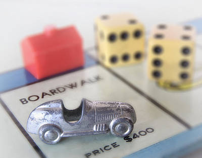 Board Game Photograph - The Rent Is Due by David and Carol Kelly
