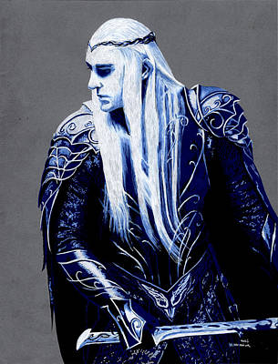 Elf Mixed Media - Thranduill by Kayleigh Semeniuk