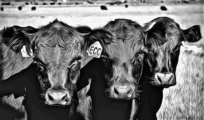 Black_white Photograph - Three Amigos-2 by Barbara Dudley