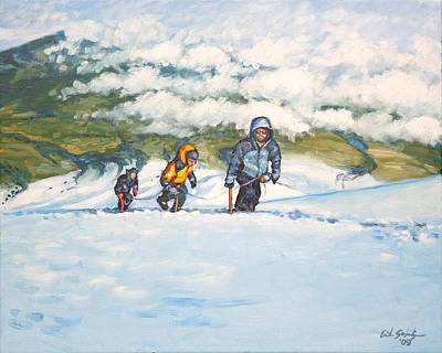 Backpacking Painting - Three Amigos by Erik Schutzman