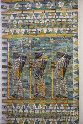 Ceramic Relief Photograph - Three Ancient Warriors by Patricia Hofmeester