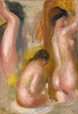 Pierre-auguste Renoir Painting - Three Bathers. Fragment by Pierre-Auguste Renoir