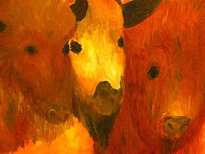 Three Bison Original by Austen Brauker