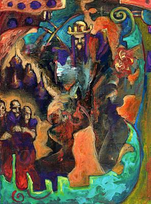 Minotaur Painting - Three Dwarves by David Matthews