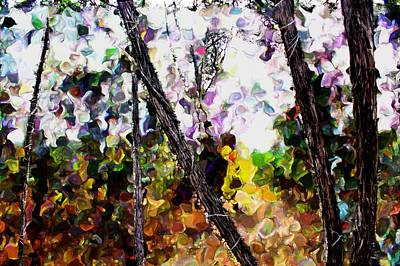 Mixed Media - Three Fingered Tree by Terence Morrissey