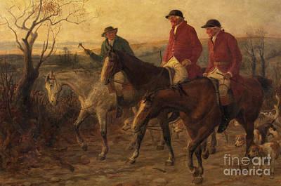 Three Jolly Huntsmen Print by Randolph Caldecott