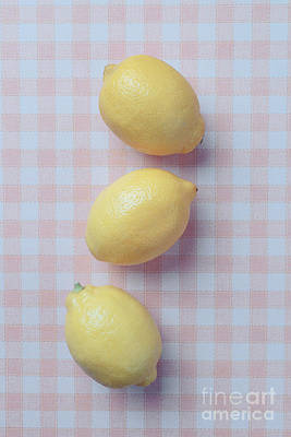 Three Lemons Print by Edward Fielding