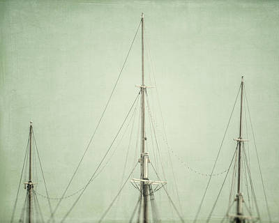 Three Masts Print by Lisa Russo