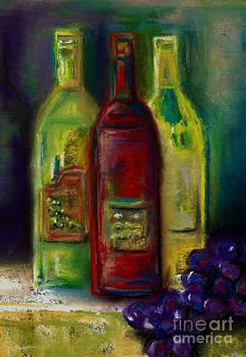 Three More Bottles Of Wine Print by Frances Marino