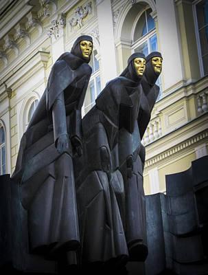 Vilnius Photograph - Three Muses - Calliope Thalia And Melpomene by Mary Lee Dereske