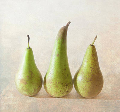 Ripe Photograph - Three Pears by Peter Chadwick LRPS