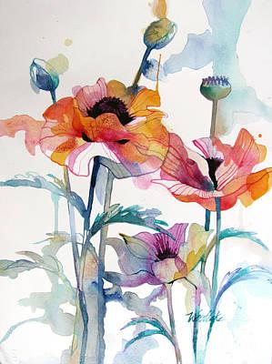 Three Poppies Original by Wendy Westlake