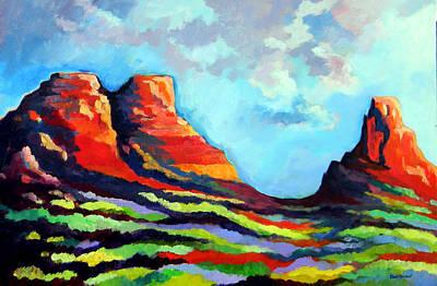Painting - Three Sisters by David  Maynard