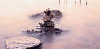 Three Stones In Water Original by Toppart Sweden