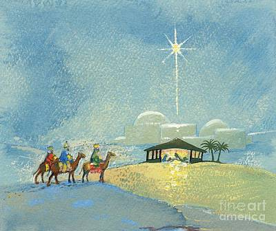 Three Wise Men Print by David Cooke