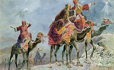 Camel Painting - Three Wise Men by Sydney Goodwin