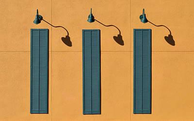 Three Shutters Print by Stuart Allen