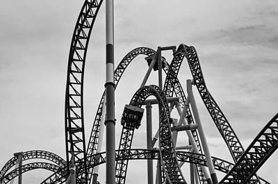 Roller Coaster Photograph - Thrills by Priscilla Westra