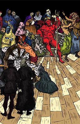 Throne Of Bone - Color Print by Karl Addison