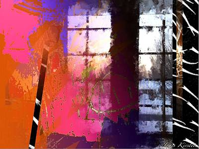 Abstract Handbag Drawing Mixed Media - Through A Window 1 by Janis Kirstein