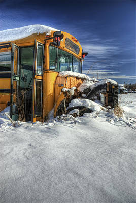 Old School Bus Photograph - Through And Through by Wayne Stadler