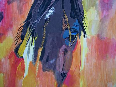 Through The Horse's Eyes Print by Melita Safran