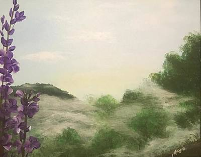 Great Smokey Mountains Painting - Through The Mist by Ginger Bryant