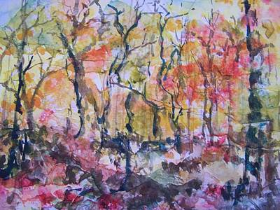 Painting - Through The Trees by Sandy Collier