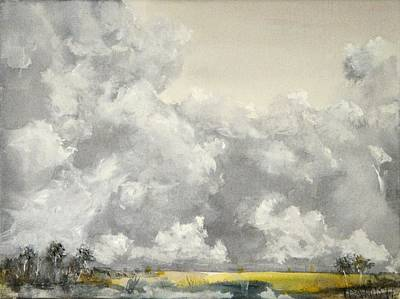 Cloudscape Drawing - Thunder Clouds 3 by Tim Parrish