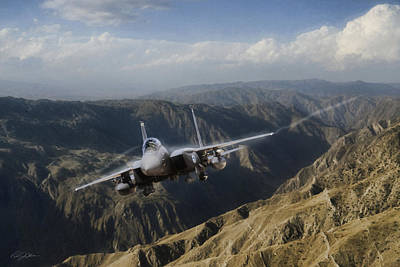 F-15 Digital Art - Thunder Mountain Eagle by Peter Chilelli