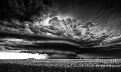 Alberta Prairie Landscape Photograph - Thunder On The Prairies by Dan Jurak