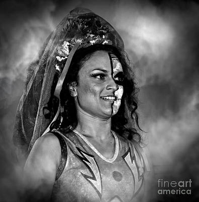 Face Photograph - Thunder Rosa Out Of The Mist by Jim Fitzpatrick
