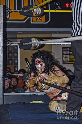 Woman Photograph - Thunder Rosa Struggling To Fight On by Jim Fitzpatrick