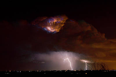 The Lightning Man Photograph - Thunderstorm Boulder County 08-15-10 by James BO  Insogna