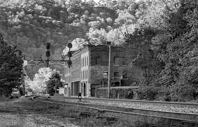 Antique Photograph - Thurmond West Virginia - Bw by Steve Harrington