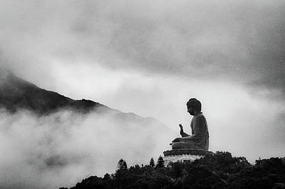 No People Photograph - Tian Tan Buddha by picture by Chris Kench Photography